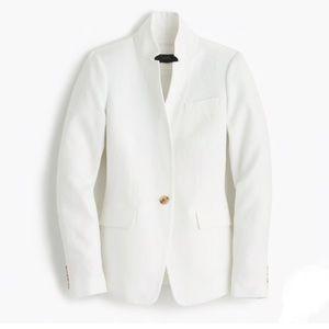 JCrew Tall Regent Blazer White Linen 12T